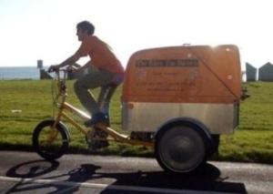 Cycles Maximus 'One Less Car' workbike in Brighton