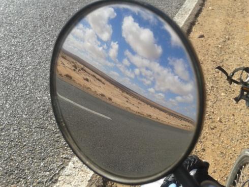 bike mirror desert